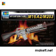 Trumpeter 01904 AR15/M16/M4 FAMILY-M16A2/M203  (1:3)