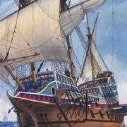 GOLDEN HIND Hajó makett
